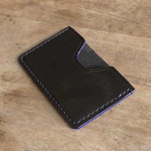 Porte cartes masoni maroquinerie cuir noir fin et pratique