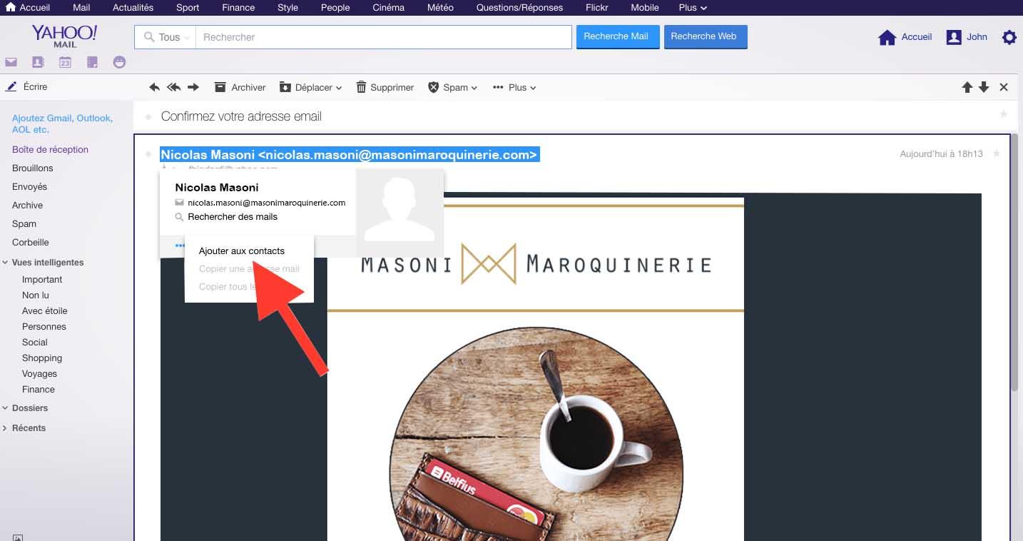 Yahoo comment éviter les spams