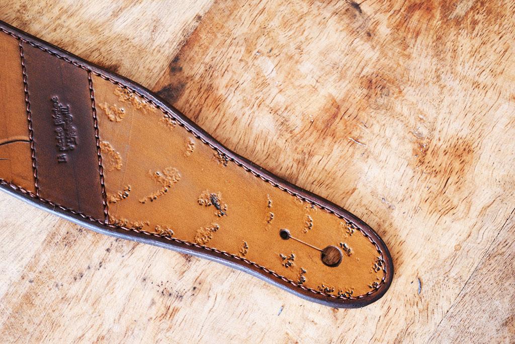 Sangle de guitare en cuir made in belgium