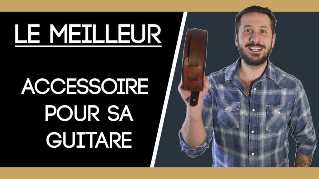 La meilleure sangle de guitare Masoni Maroquinerie en cuir