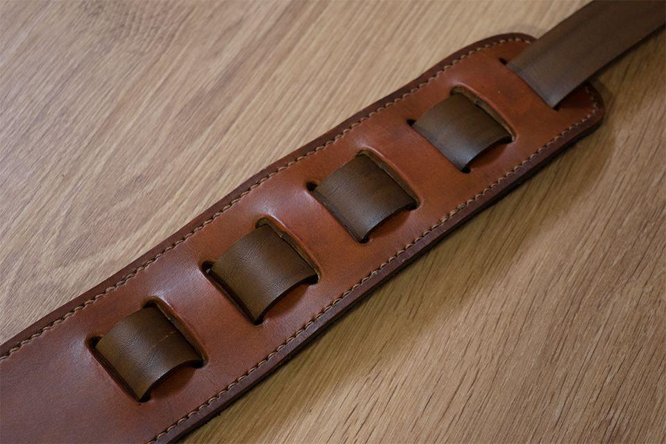 Sangle de guitare en cuir réglable et personnalisable Masoni Maroquinerie