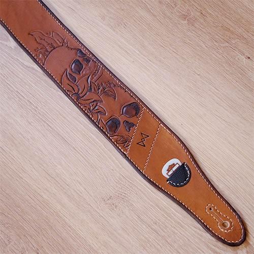 Sangle de guitare custom personnalisable en cuir