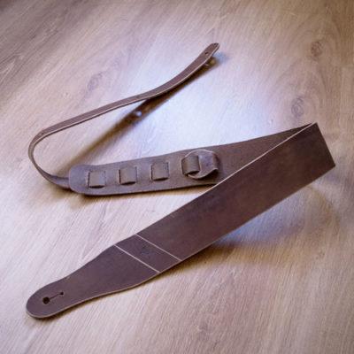 Sangle de guitare simple masoni maroquinerie cuir artisanale ROCK
