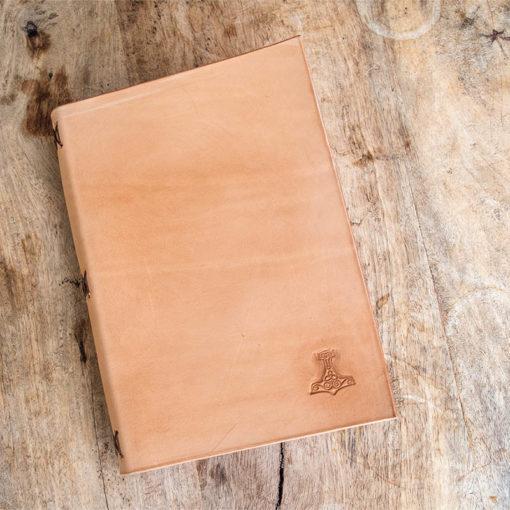 Livre en cuir Masoni Maroquinerie viking marteau de thor