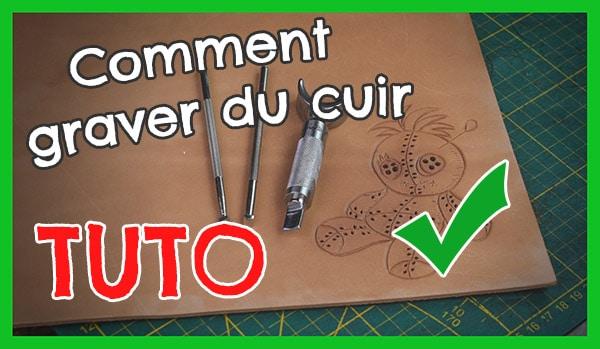 Tuto cuir comment faire du repoussage gravure carving sur cuir Masoni Maroquinerie