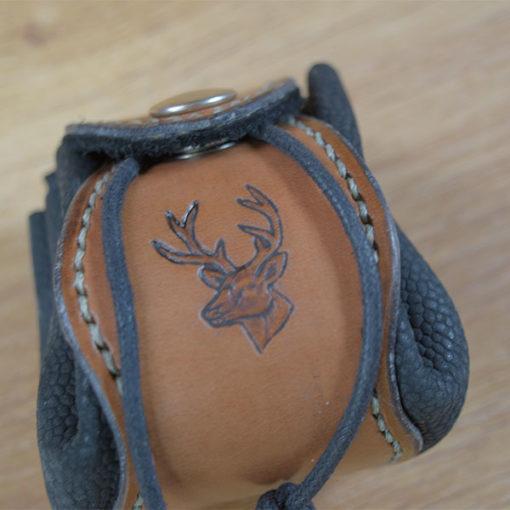 Bourse en cuir cerf celtique médiévale viking Masoni Maroquinerie 1