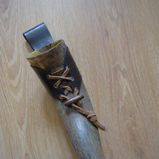 Corne à boire véritable style viking mediévale Masoni Maroquinerie