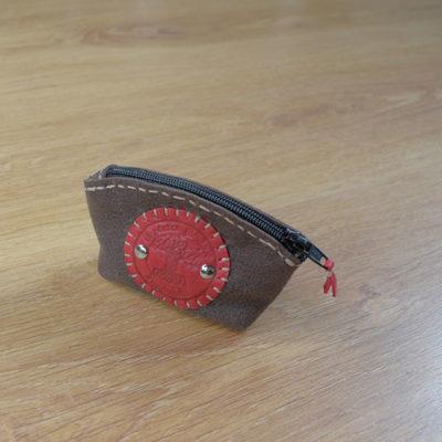 porte monnaie cuir suédé Masoni Maroquinerie