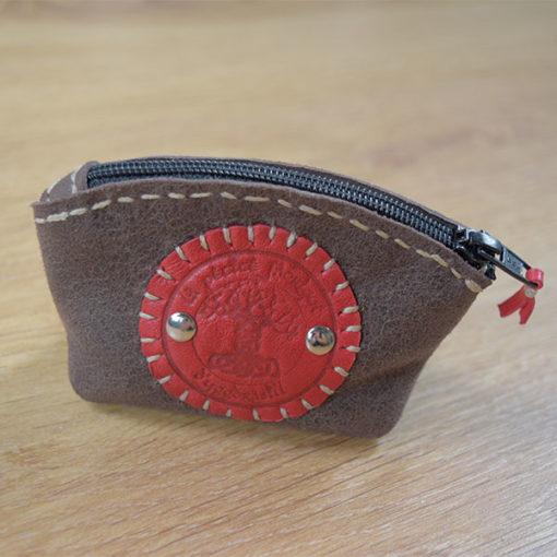 porte monnaie cuir suédé recto Masoni Maroquinerie