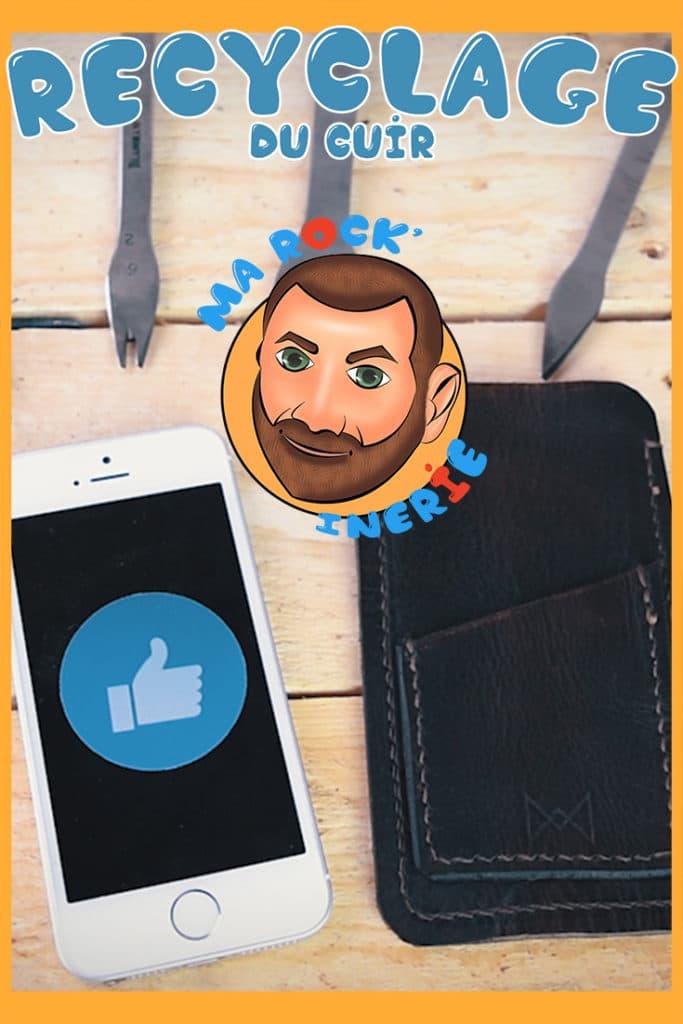 Comment recycler sa pochette de smartphone en cuir Pinterest