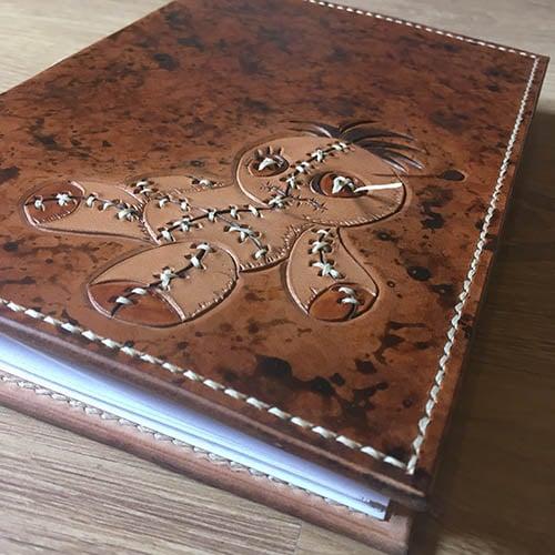 carnet en cuir format A5 50 pages vierges