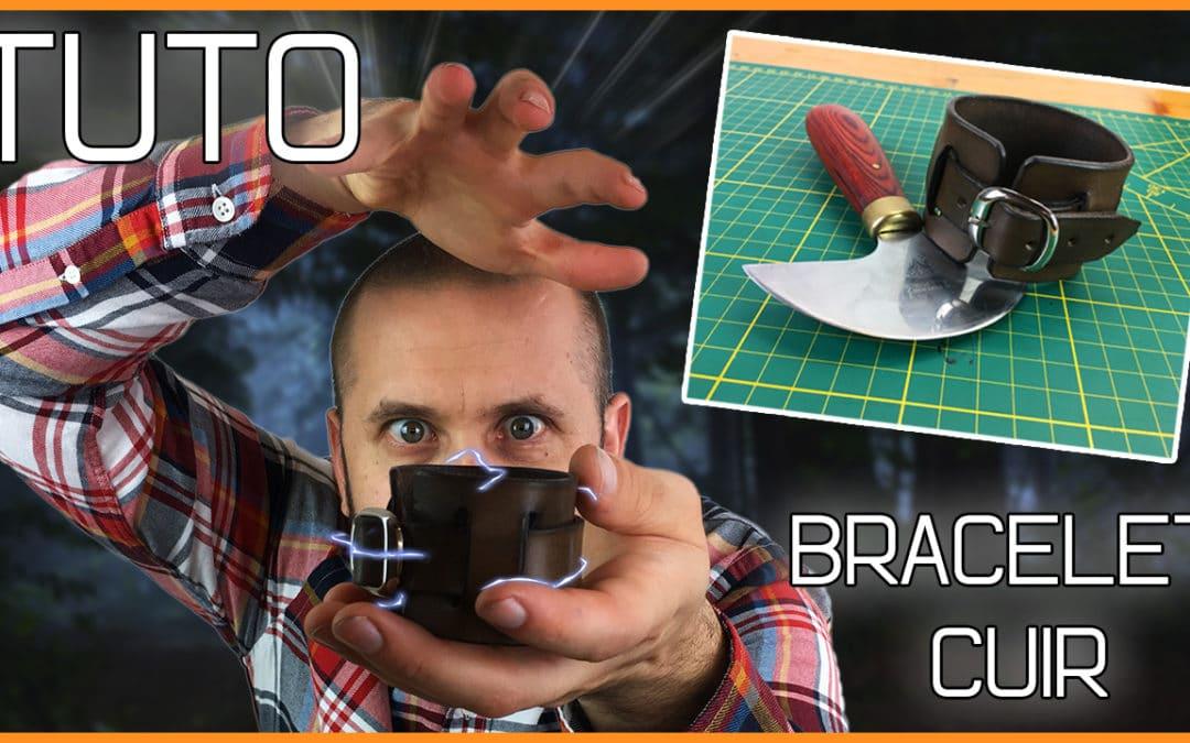 tuto bracelet en cuir - comment faire un bracelet en cuir - Masoni Maroquinerie - Ma ROCK inerie - artisanat