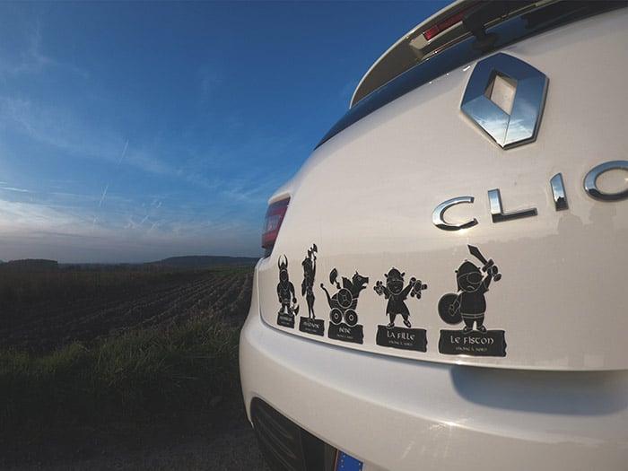 Stickers durs à cuire autocollants voiture famille viking à bord