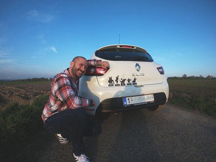 Stickers durs à cuire autocollants voiture famille viking accessoires