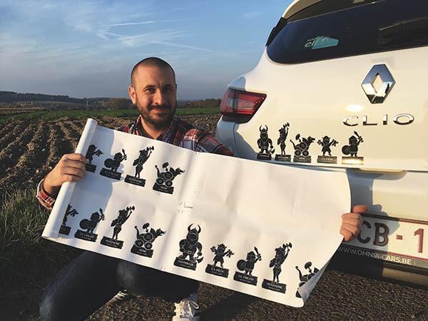 Stickers viking pour voiture qui représentent votre famille avec humour - à coller partout